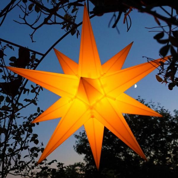 LED Außenstern Adventsstern Weihnachtsstern LED auswechselbar, Kabel 7m