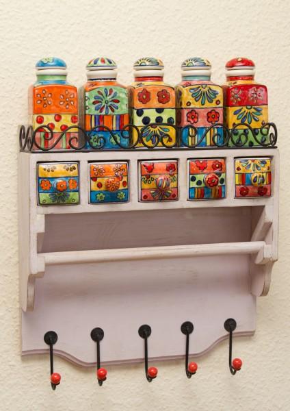 Keramikkommode Küchenschrank Hängeschrank Wandschränkchen Apothekerschrank Küchenrolle