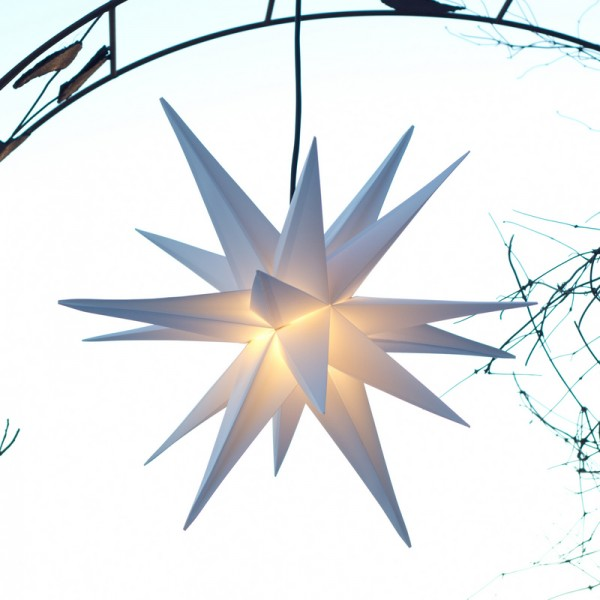 LED- Beleuchteter und faltbarer LED-Außenstern 18-Zack