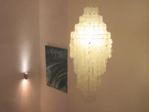 Muschel Leuchte Sakawa 90cm Farbe: weiß