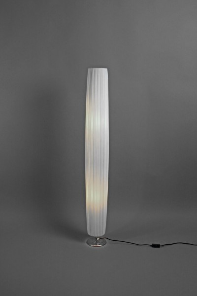 Stoffleuchte, chrom, groß H. 119cm