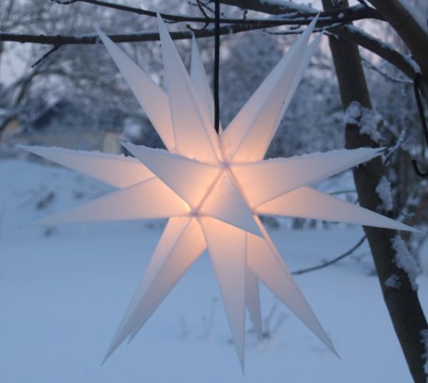 Mit LED Melchior outdoor II weiß, Außenstern inkl. Außenkabel / Außensterne